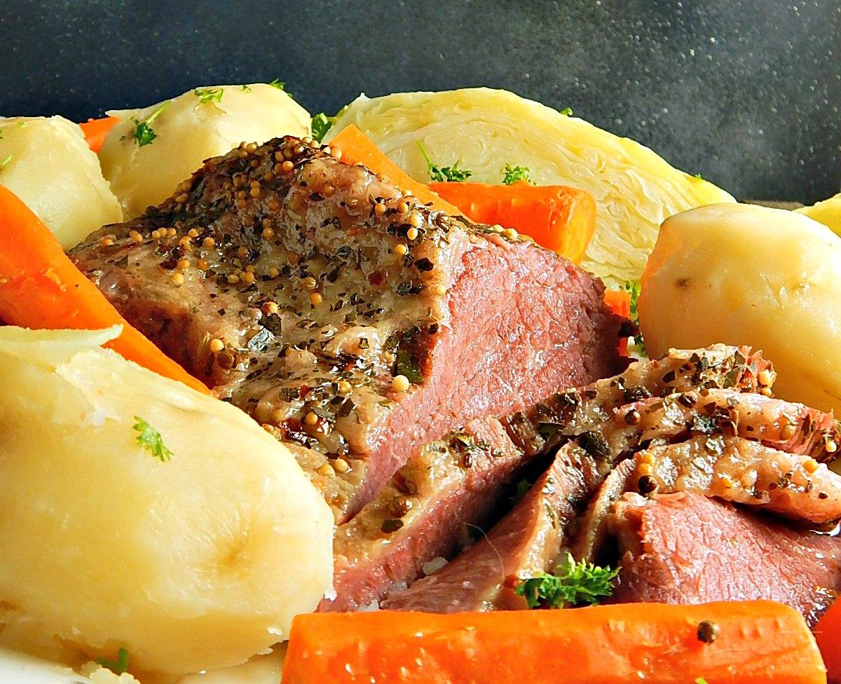 Corned Beef Cabbage Dinner - Frugal Hausfrau