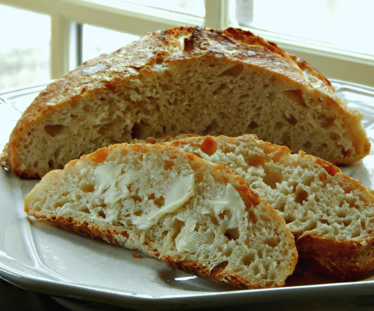 Crusty Bread, artisinal bread, no knead, overnight