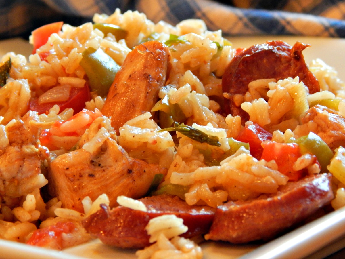 Jambalaya - perfectly cooked rice, make either roux or tomato based jambalaya