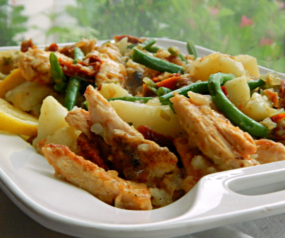 Lemony Chicken with Green Beans