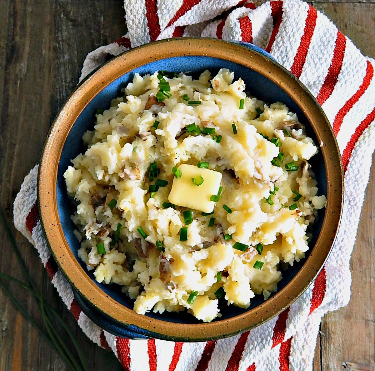 Simple Rustic Mashed Potatoes