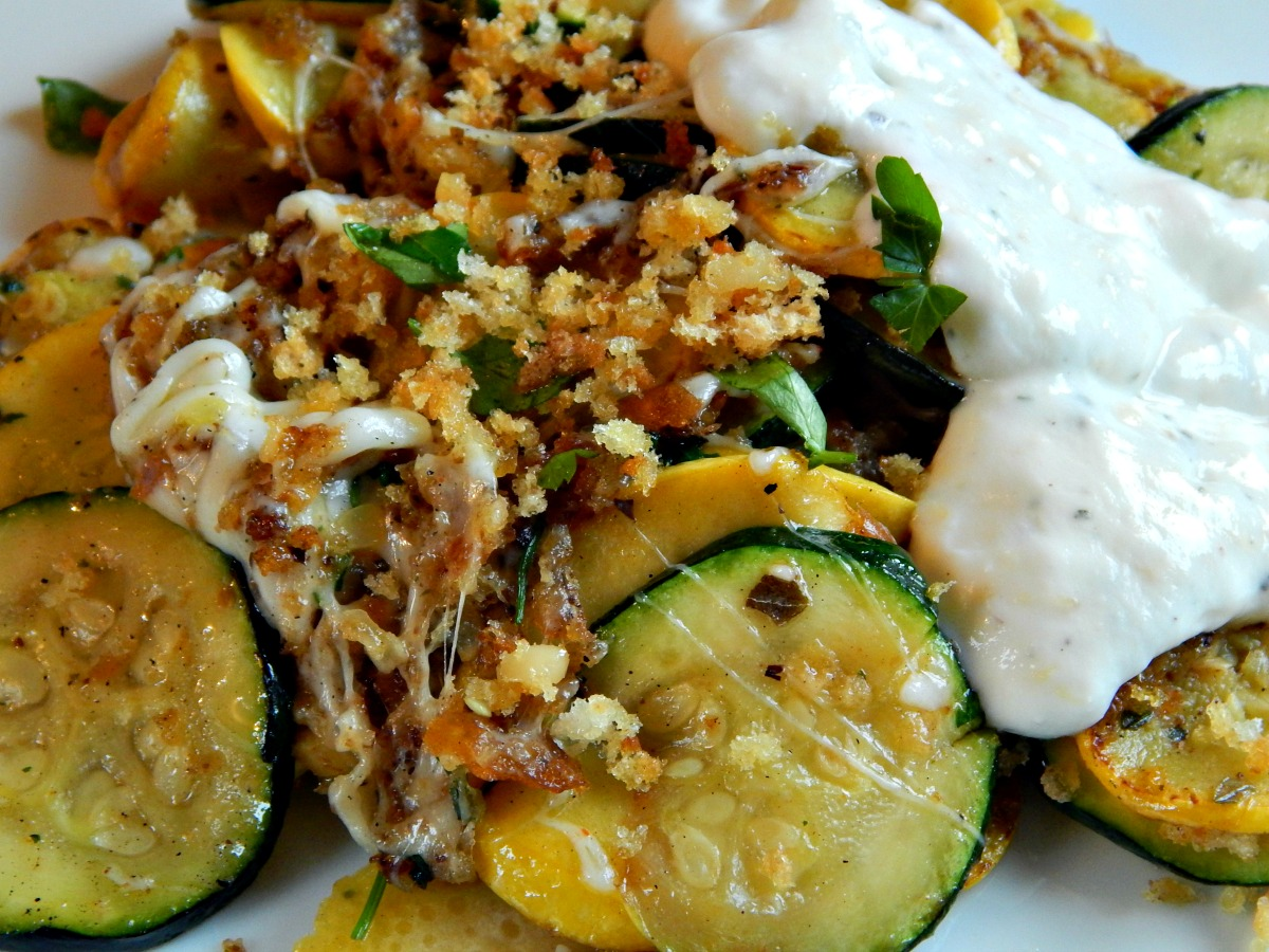 Summer Squash with Herbed Yogurt Sauce