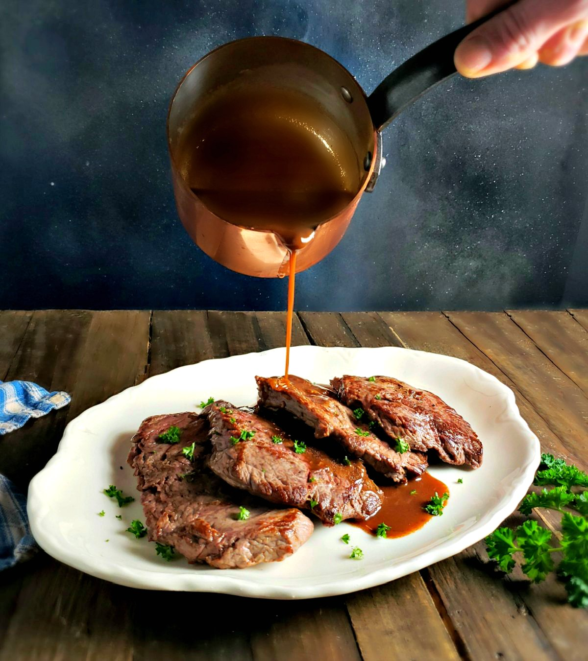Medallions Of Beef With Red Wine Reduction Frugal Hausfrau