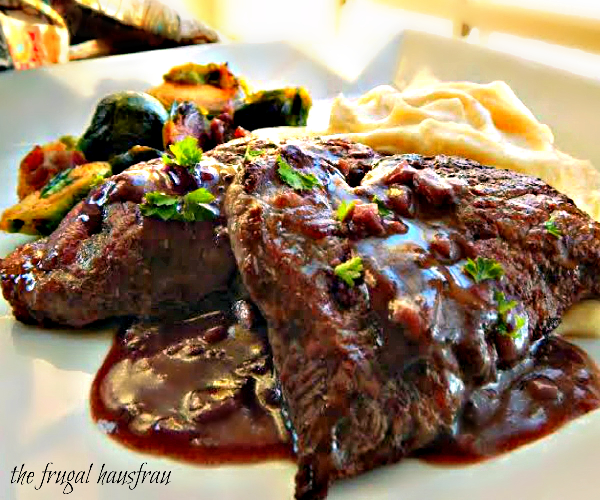 Medallions of Beef with Red Wine Reduction