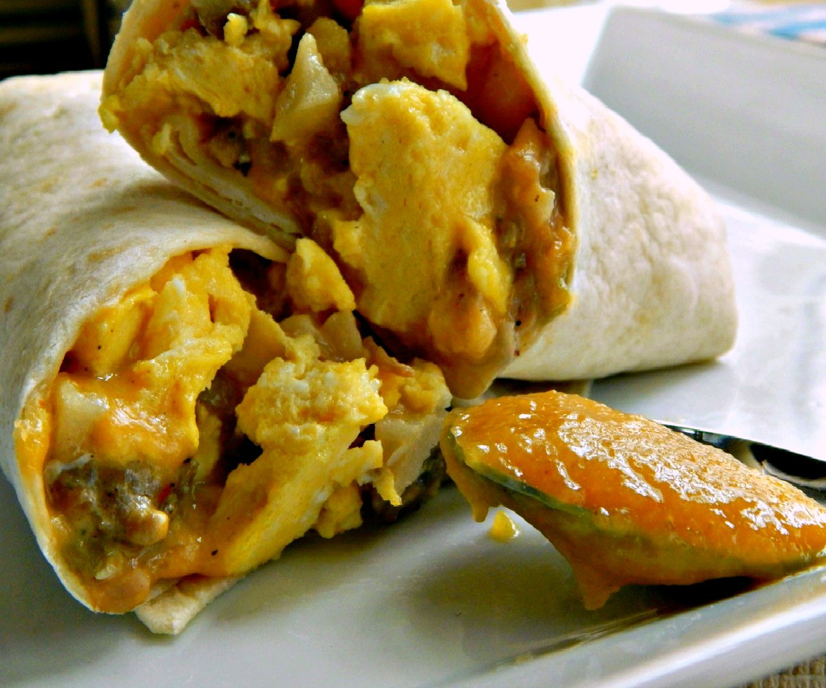 Green Chili Breakfast Burritos