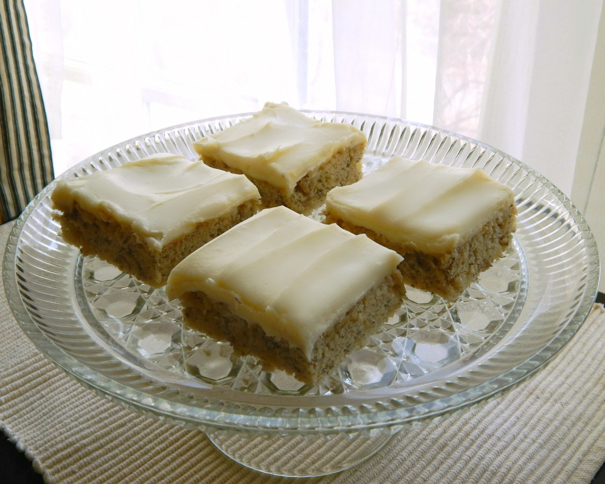 Banana Sheet Cake -(original photo) with Cream Cheese Frosting