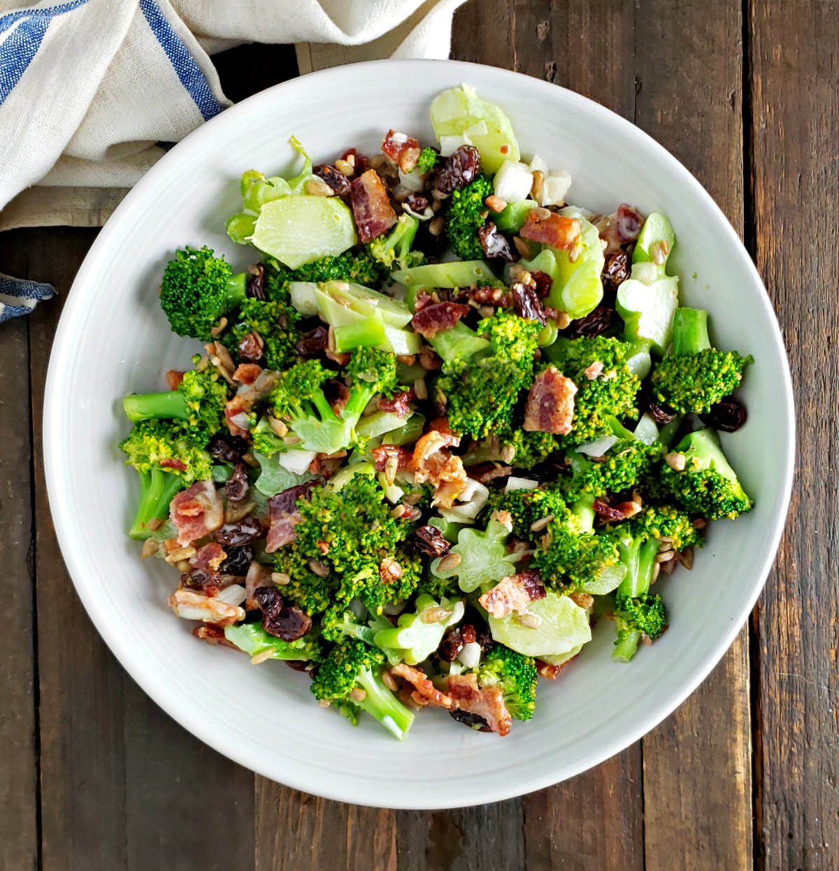 Crazy Broccoli Salad No Mayo