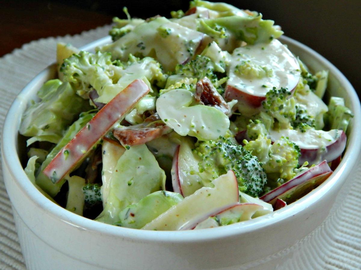 Shaved Broccoli Salad Apples Tarragon