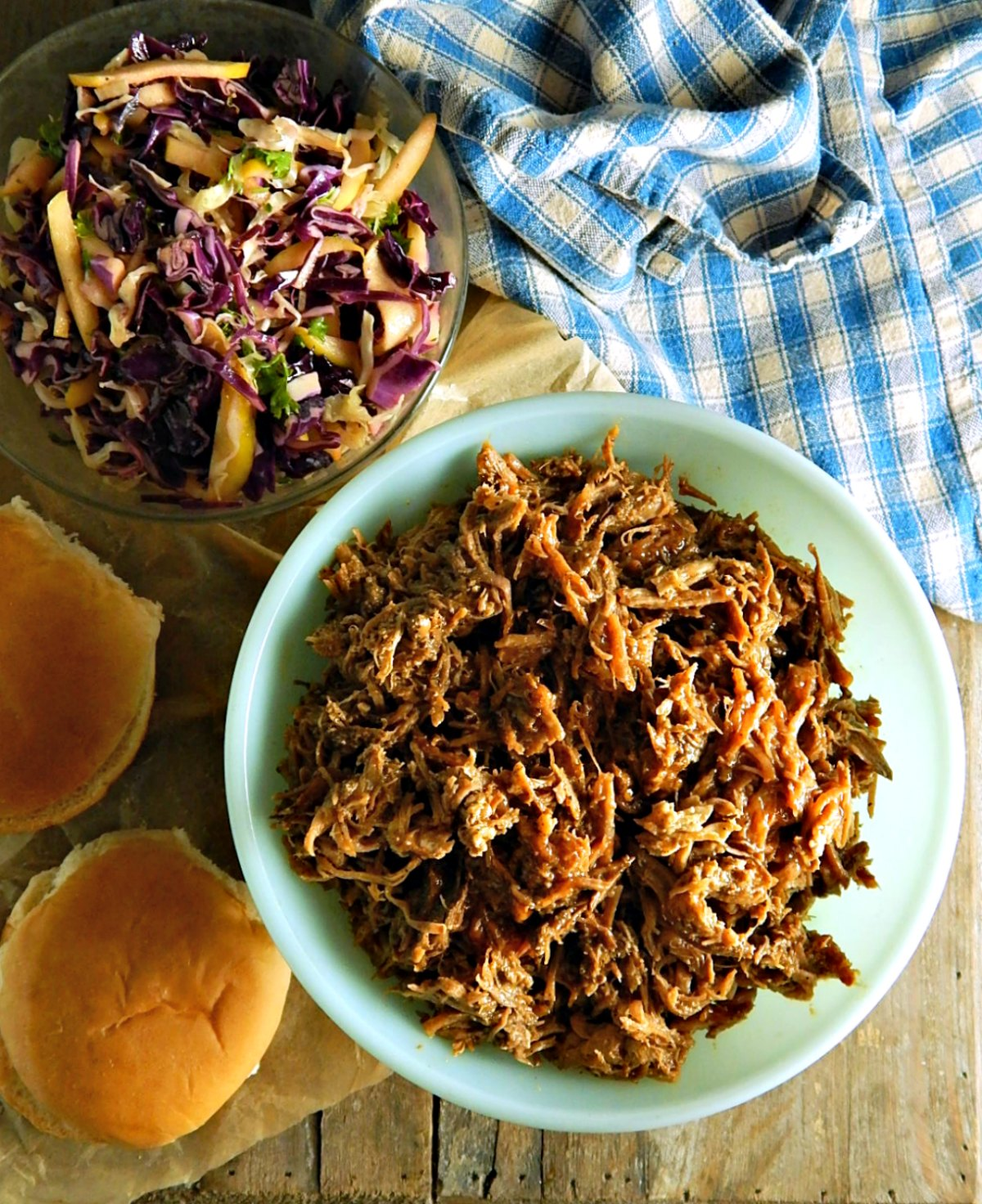 Crock Pot Slow Cooker Pulled Pork or Brisket