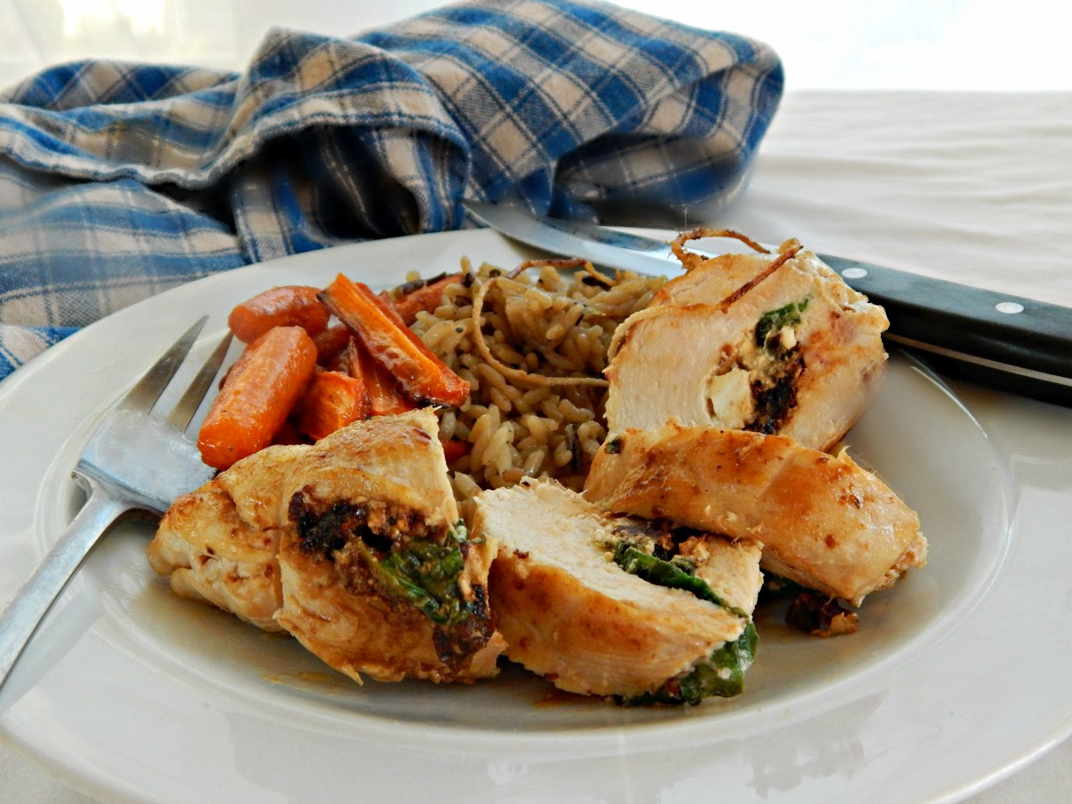 Spinach & Feta Stuffed Chicken Breasts