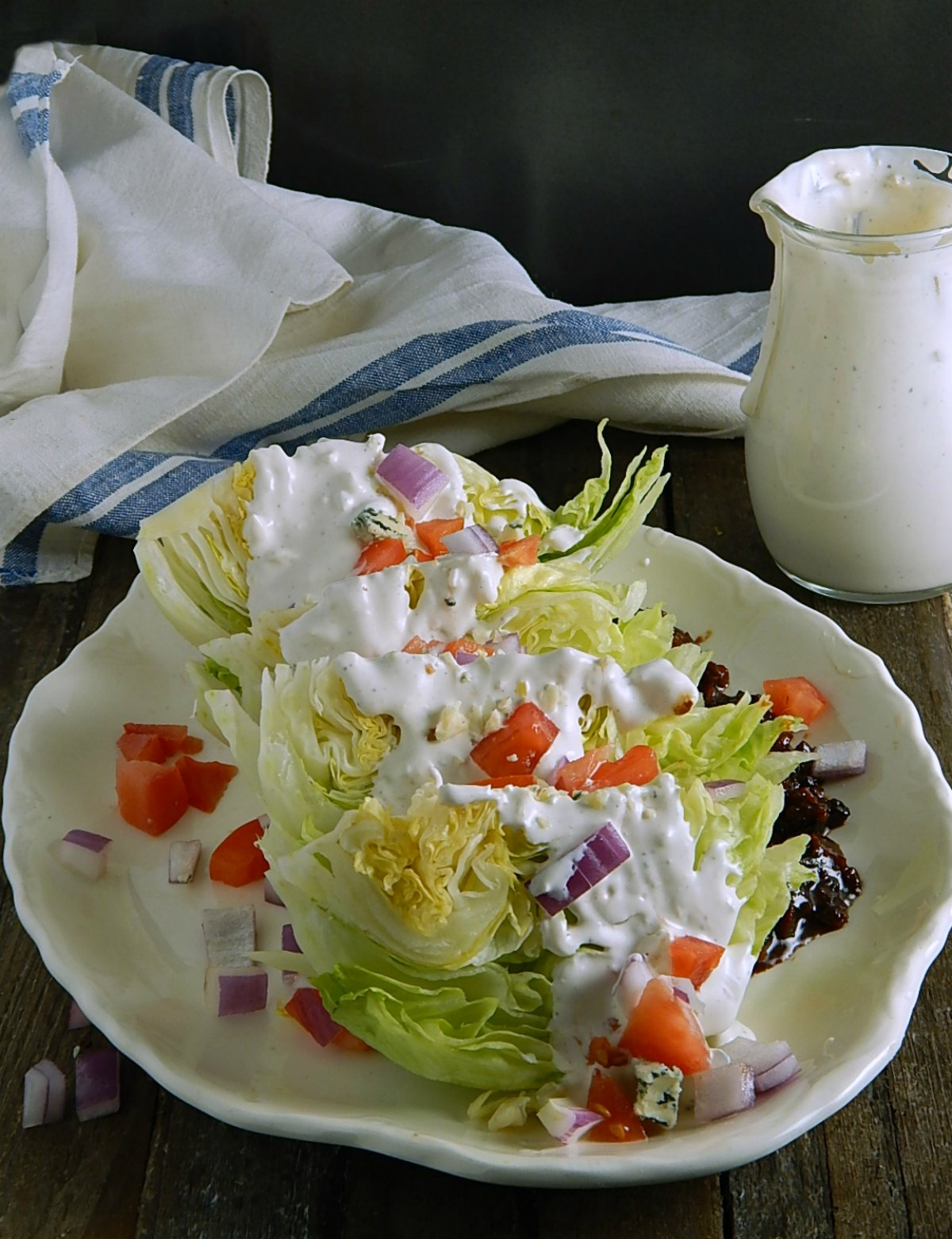 Serious Bleu Cheese Dressing Wedge Salad