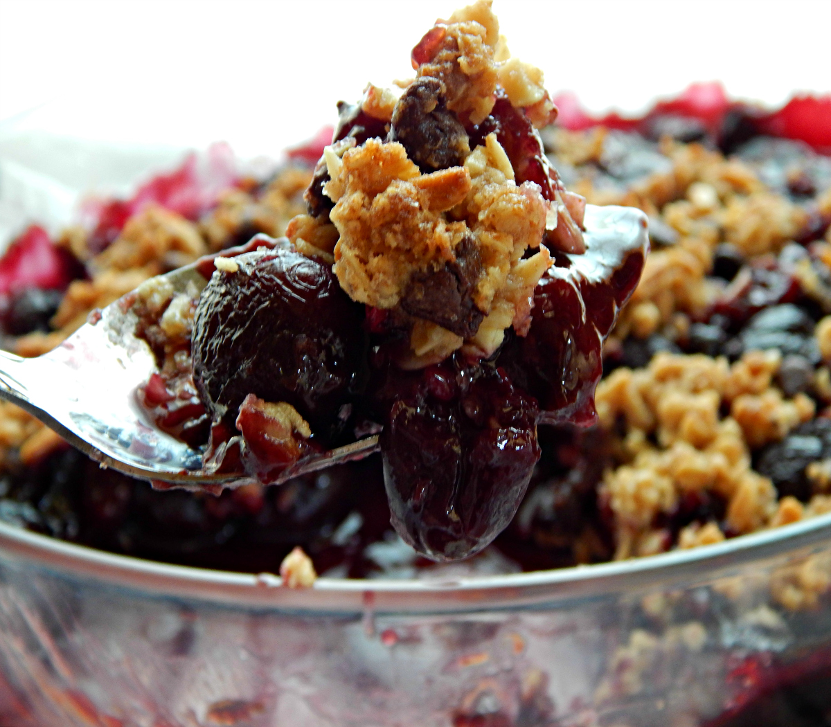 Cherry Crisp with Dark Chocolate