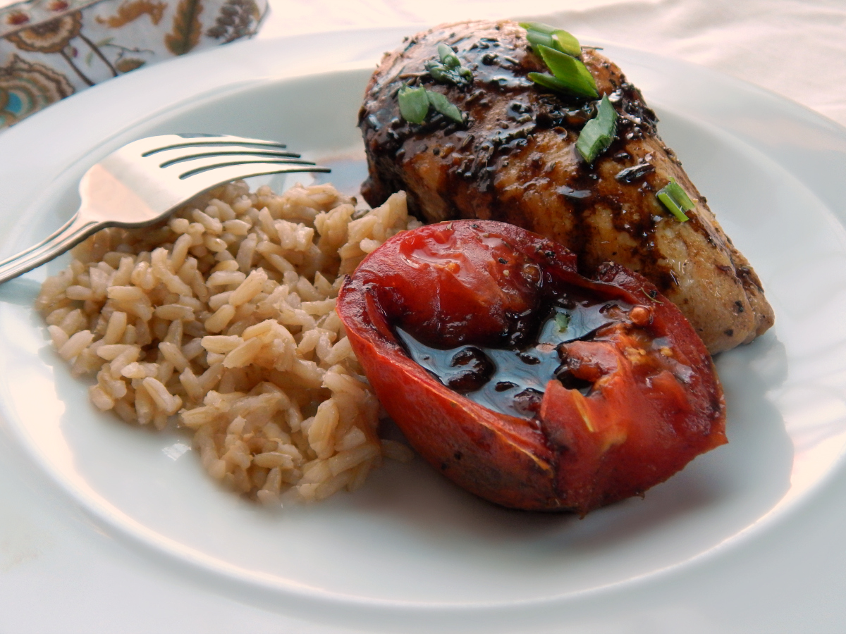 Balsamic Glazed Chicken Tomatoes