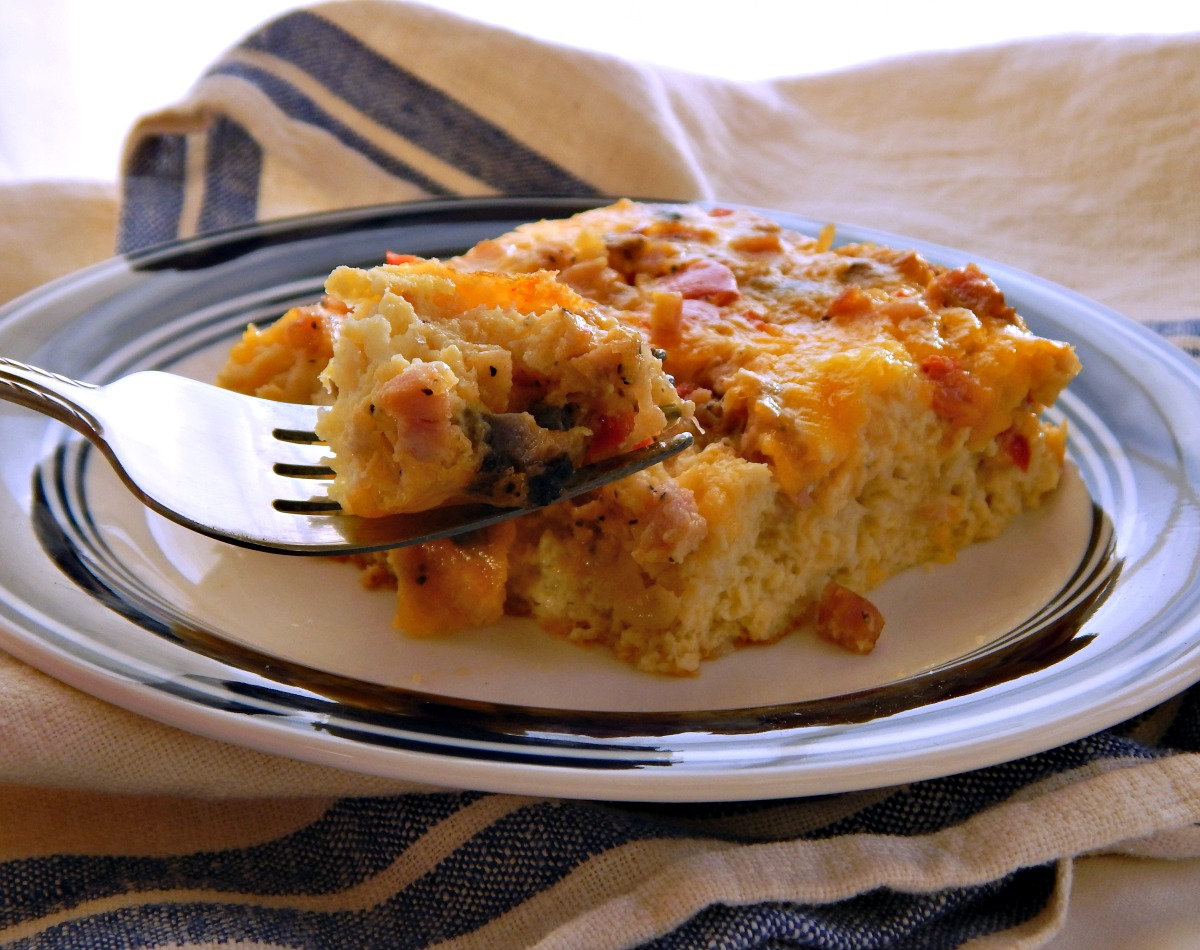 Cheese & Sausage Egg Bake
