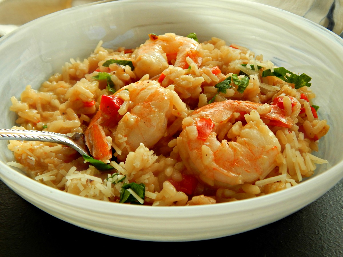 Roasted Red Pepper & Shrimp Risotto