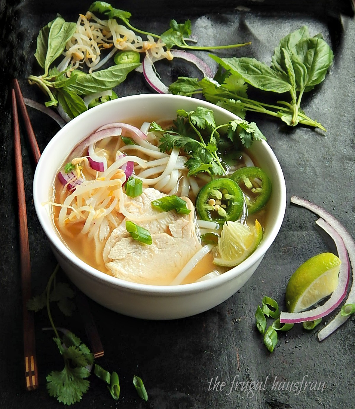 Shortcut Pho Ga Vietnamese Chicken Noodle Soup Or Pho Ga Tay Instant Pot Or Stove Top Frugal Hausfrau