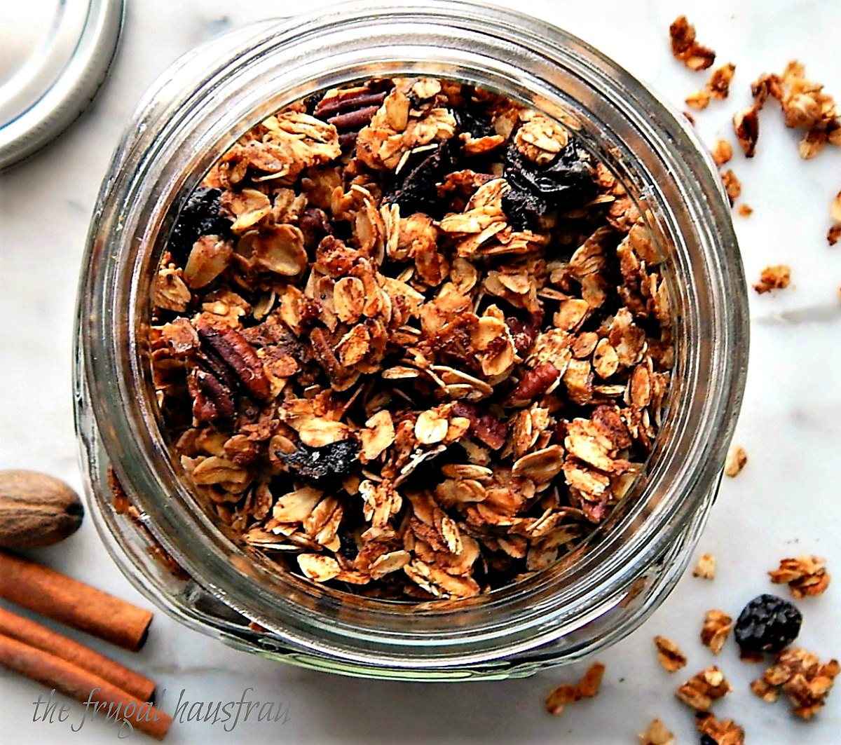 Home-made Gingerbread Granola with Dried Cherries & Pecans
