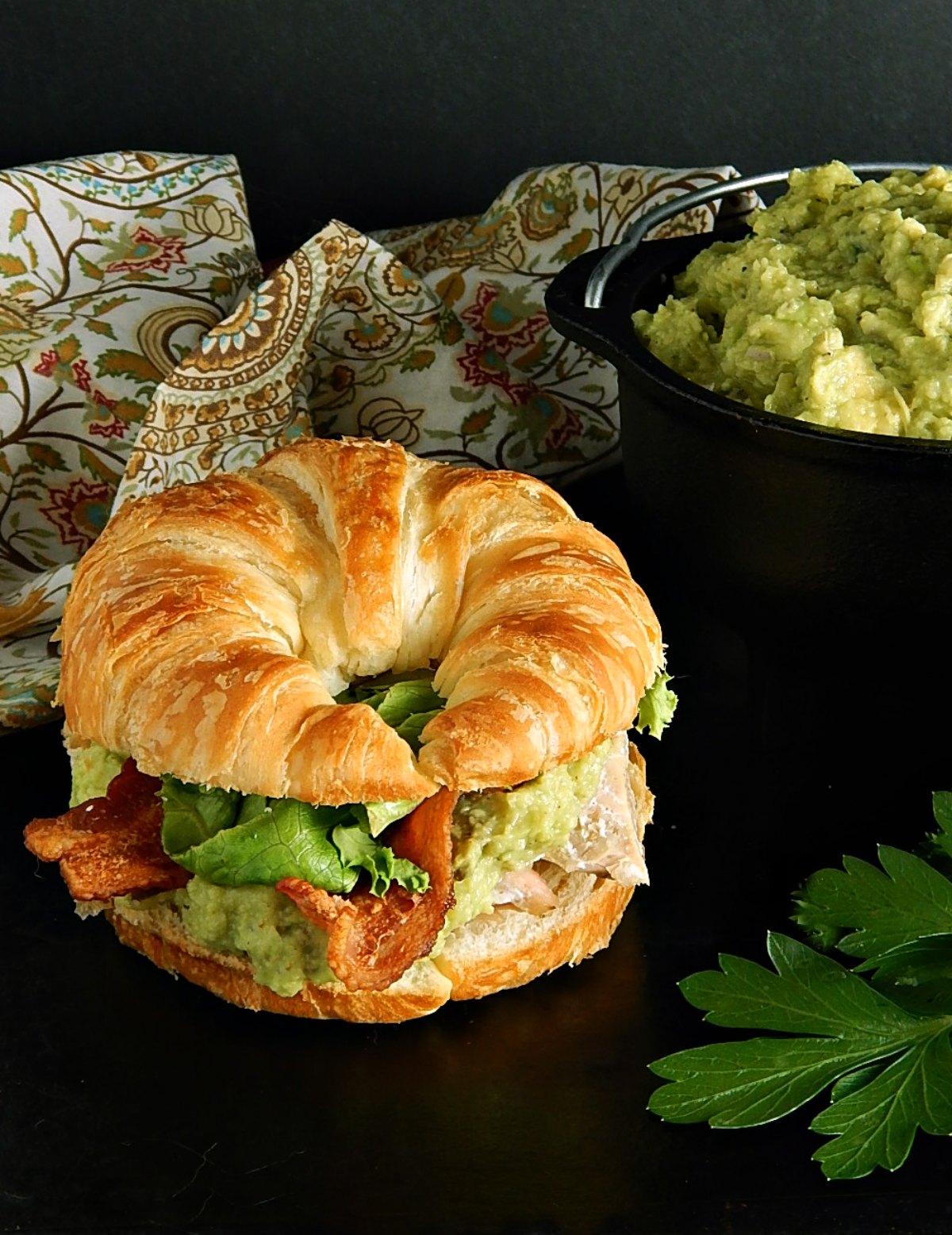 Ina Garten's Guacamole Salmon Sandwiches