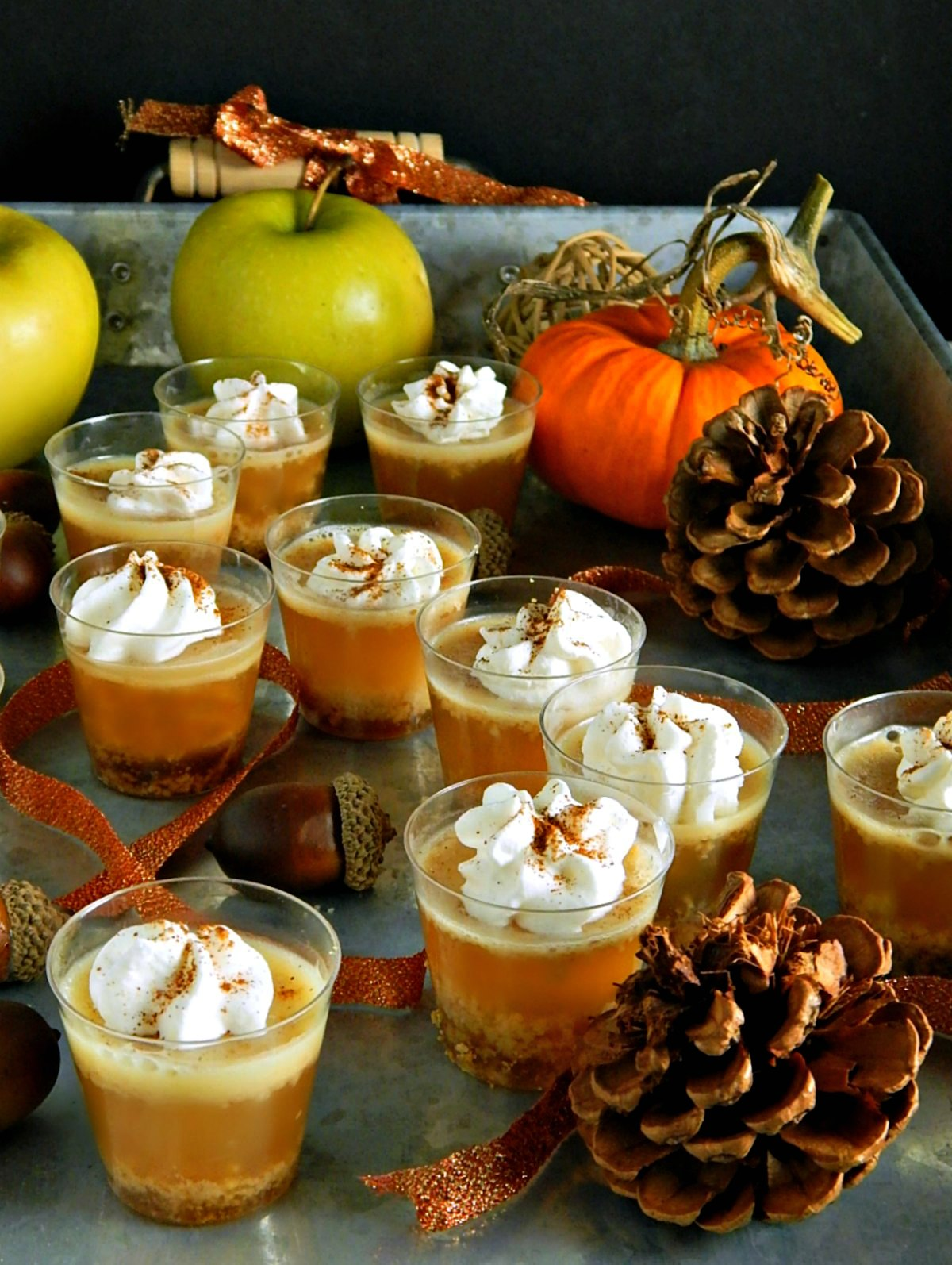 Caramel Apple Pie Jello Shots