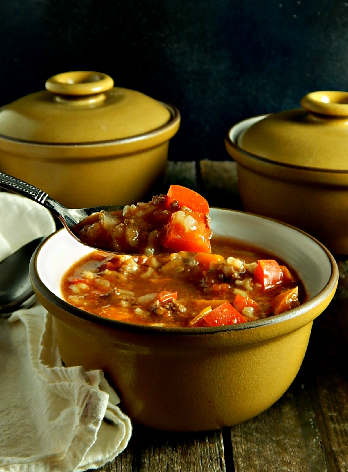 Stuffed Bell Pepper Soup Instant Pot/Stove Top