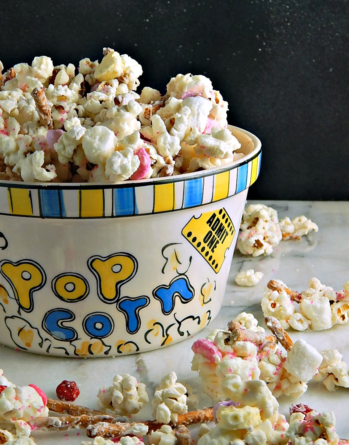 Valentines White Chocolate Popcorn