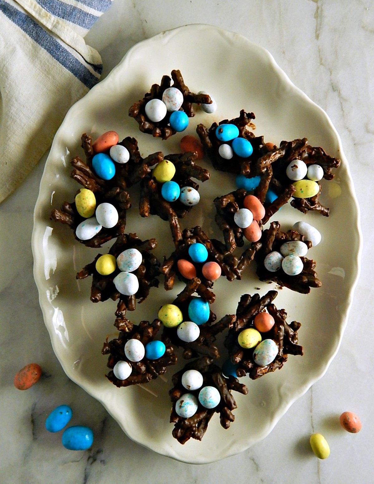 Chocolate Pretzel Bird Nests
