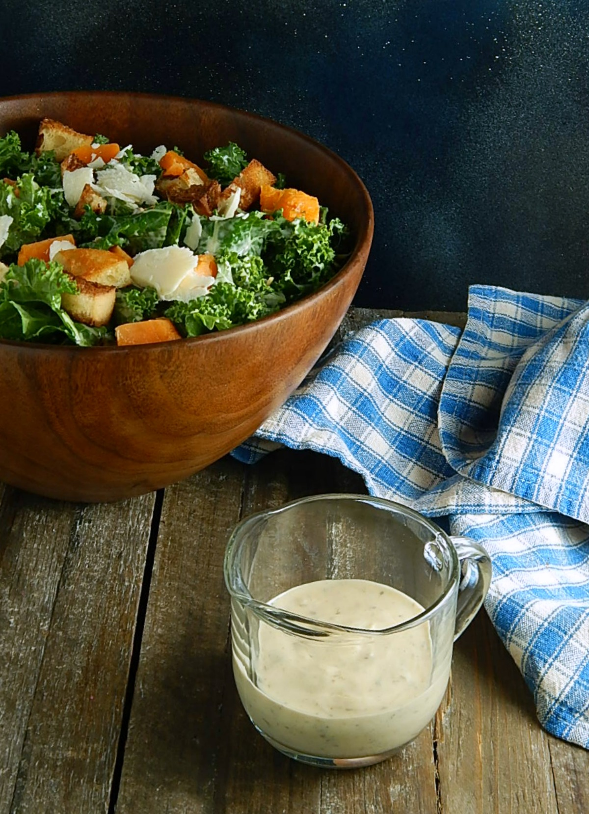 Kale Salad With Creamy Caesar