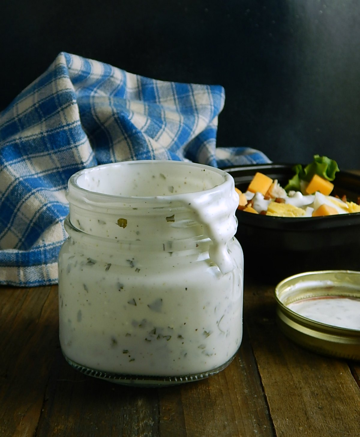 Shake in a Jar Yogurt Dressing