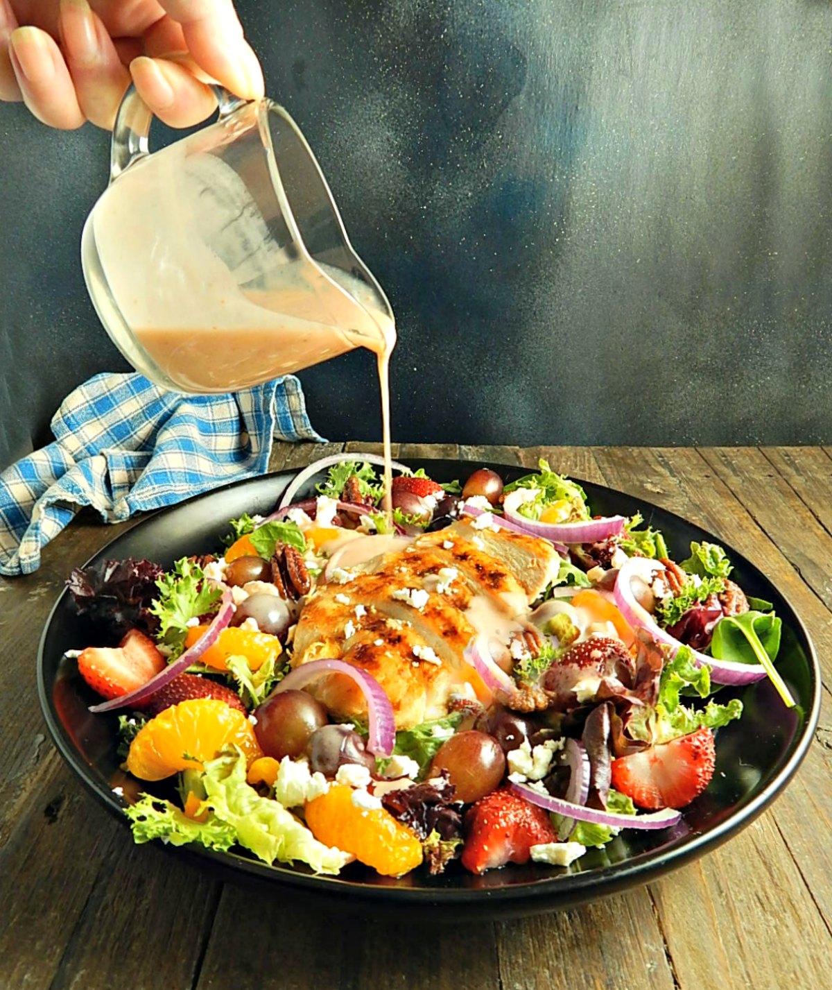 Longhorn Grilled Chicken Strawberry Salad